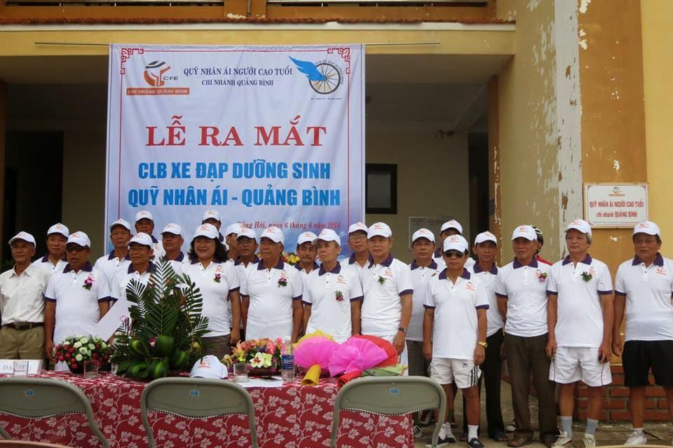 Lễ ra mắt và diễu hành CLB Xe đạp dưỡng sinh Quỹ Nhân ái Quảng Bình