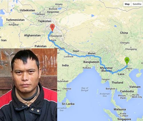 Lưu lạc 5.800 km từ Mèo Vạc sang tận Pakistan